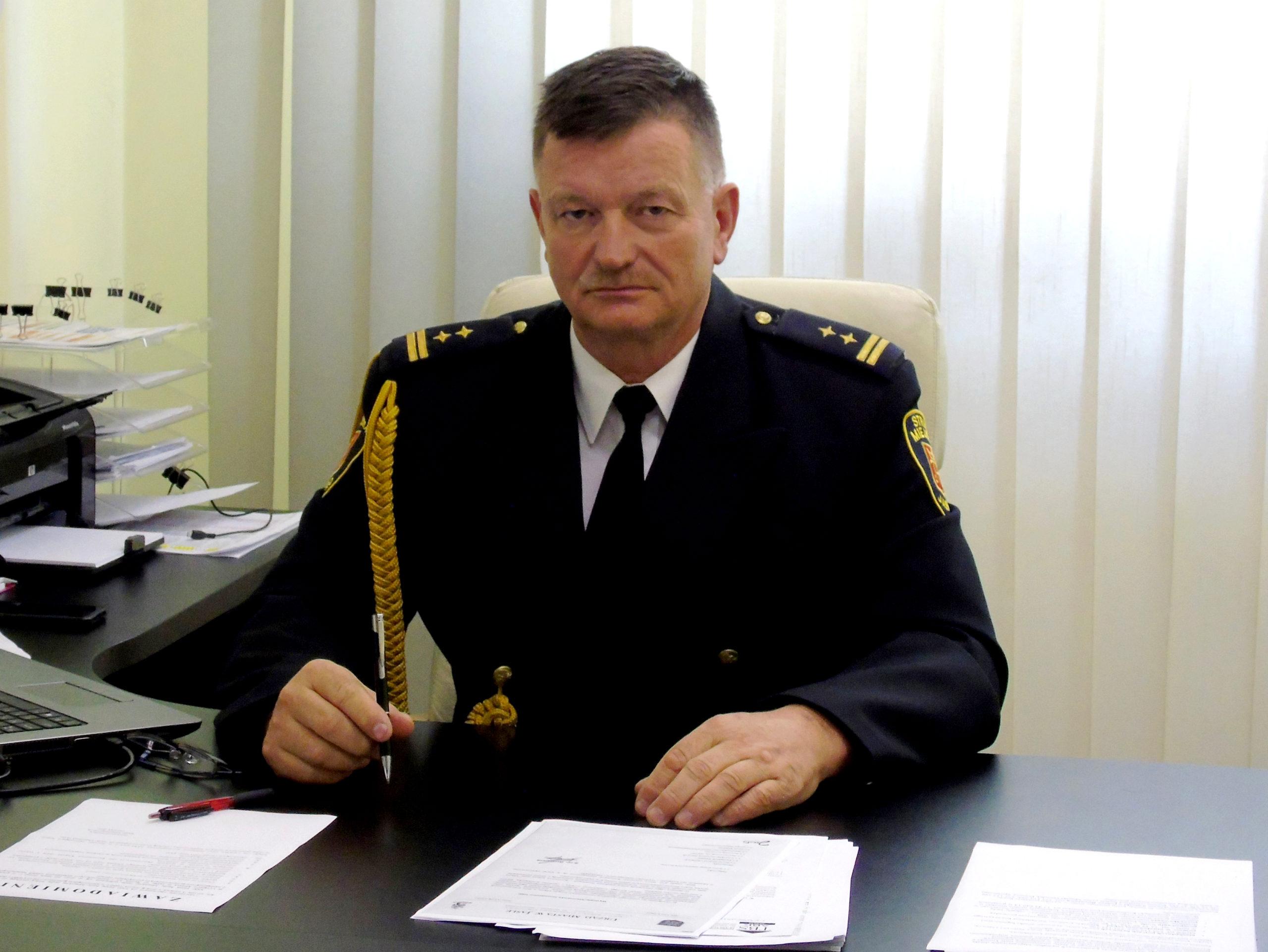 Komendant Straży Miejskiej w Jaśle Kazimierz Wiśniowski